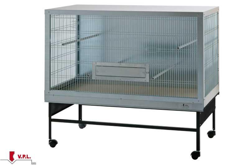 gabbia per uccelli di piccola taglia con carrello